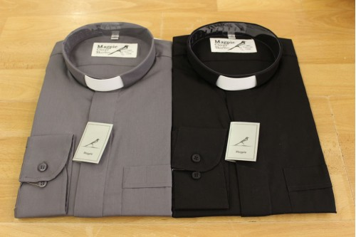 Gents Shirt L/S Slip-in Collar - Easy Care 100% Cotton