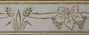 Wheat and Grapes Gold Trim 5cm (not currently available) +£32.30