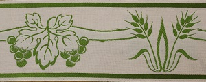 Wheat and Grapes Green Trim 10cm (not currently available) +£39.60