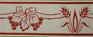 Wheat and Grapes Red Trim 10cm (not currently available) +£39.60