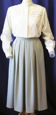 Ladies Skirt - Pleated Front